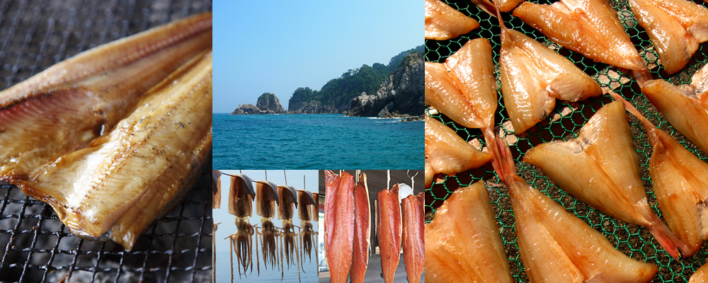 Help yourself to the dried seafood and smoked fish that<br/> the Sasagawa Nagare on the Sea of Japan takes pride in!