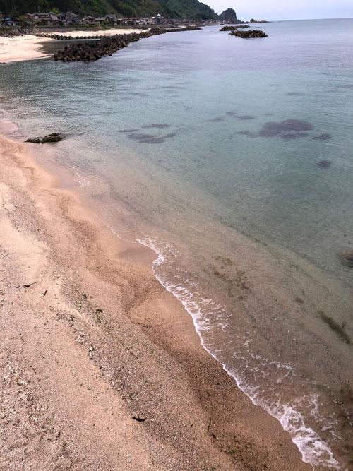 笹川流れ海の透明度が高いです。