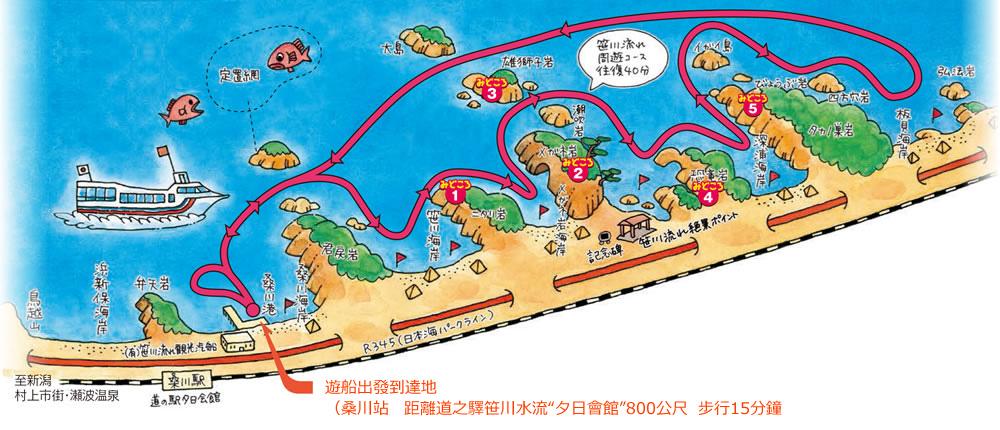 笹川水流周遊路線